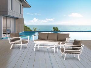 מערכת ישיבה הוואי לבן