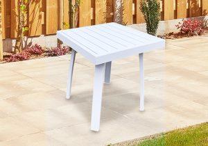 שולחן למיטת שיזוף לבן