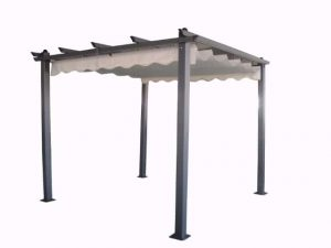 פרגולה מפוארת 3*3 מטר כירוי נפתח אפור
