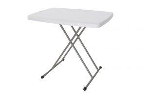 """שולחן 76×50 ס""""מ קמפ אין לבן"""