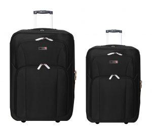זוג מזוודות בד 24+28 1322 שחור