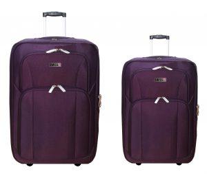 זוג מזוודות בד 24+28 1322 סגול