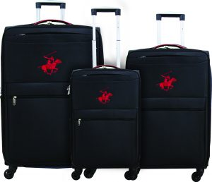 שלישיית מזוודות פולו 2600 שחור/אדום