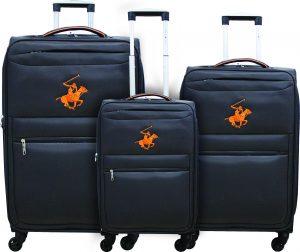 שלישיית מזוודות פולו 2600 אפור/כתום