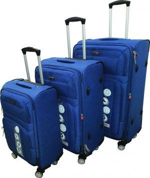 שלישית מזוודות 1325 בד כחול