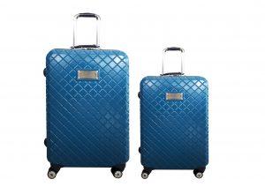 זוג מזוודות טומי הילפינגר כחול מעויינים
