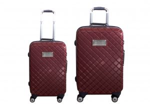זוג מזוודות טומי הילפנגר בורדו מעויינים