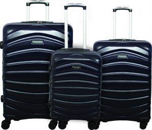 שלישית מזוודות דיסקברי כחול
