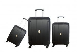 שלישית מזוודות דלסי שחור דגם 3578