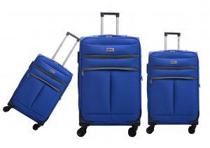 שלישיית מזוודות בד דגם 1320/1 רויאל