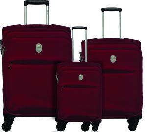 שלישיית מזוודות דלסי אדום 3429