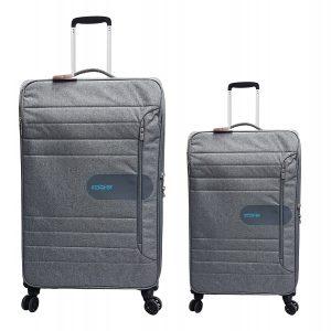זוג מזוודות 8292 אפור אמיקן טוריסט