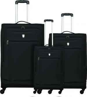 שלישיית מזוודות קלות אטלנטיק שחור
