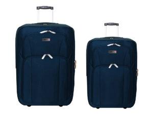 זוג מזוודות בד 24+28 נייבי