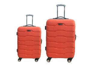 זוג מזוודות 1385 24+28 ABS אדום קולה