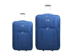 זוג מזוודות בד 1322 כחול