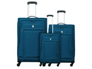 שלישיית מזוודות קלות אטלנטיק ירוק