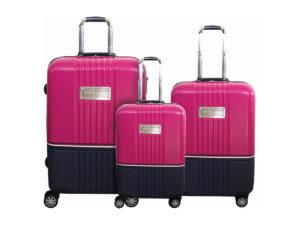 שלישית מזוודות טומי הילפיגר ורוד