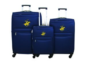 שלישיית מזוודות פולו 2600 נייבי/צהוב