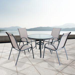 מערכת שולחן וארבע כסאות טולוז