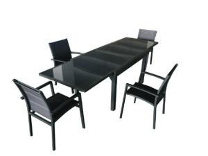 פינת אוכל ורונה אפור כהה + 4 כסאות