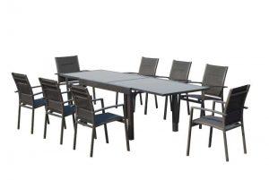 שולחן אלומיניום ויגו לבן+4 כסאות