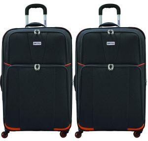 מבצע ישראכרט: זוג מזוודות טרולי 20 אינץ' סוויס קלאב- דגם 2000