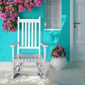 כסא נדנדה מעץ