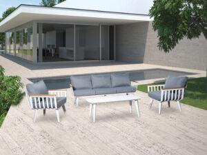 מערכת ישיבה בולוניה תלת אפור בהיר