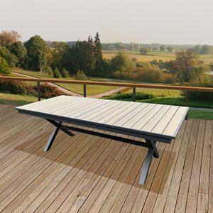 שולחן בורלי אלומיניום רגל איקס