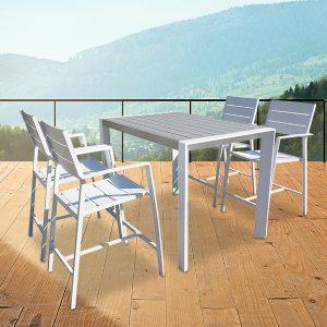 פינת ישיבה מונטו קרלו 4 כסאות ושולחן