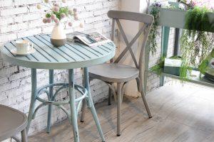 סט וינטג' שולחן עגול+ 4 כסאות