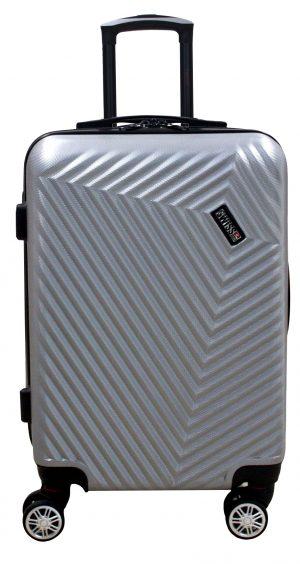 מזוודה בודדת ABS דגם 1920 גודל 20 אינץ כסף