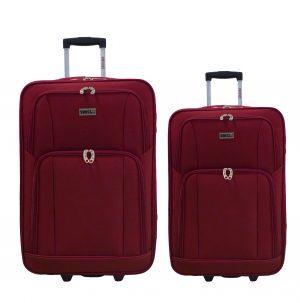 זוג מזוודות בד 1322 אדום