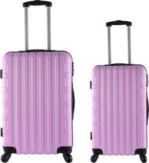 זוג מזוודות 1387 20/24 ורוד