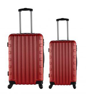 זוג מזוודות 1387 20/24 אדום