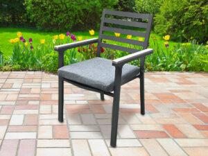 כסא אלומיניום luxury אפור