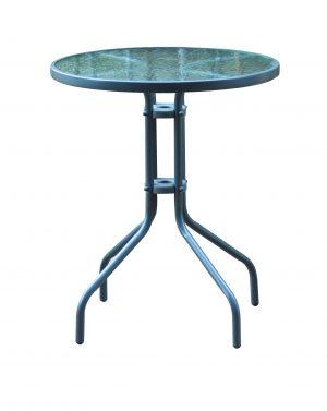 שולחן עגול זכוכית