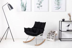 כסא נדנדה בוניטה שחור