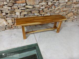 ספסל ישיבה מעץ טיק