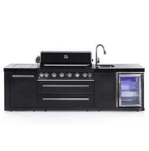CAESAR 6 BLACK מטבח חוץ מודולרי מנירוסטה שחורה
