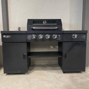 מטבח גז מיני פרמיום 4+1 צבע שחור