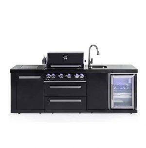 CAESAR 4 BLACK EDITION מטבח חוץ מודולרי מנירוסטה שחורה